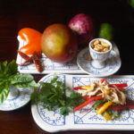 Sean's favorite summer lunch: Thai mango salad with chicken and shrimp