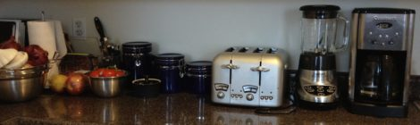 Kitchen stuff I dream about...just rethinking my counter space