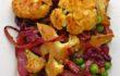 Oven-roasted Indian vegetables