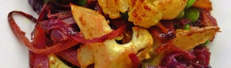 Oven-roasted Indian vegetables