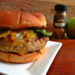 Curried Turkey & Green Apple Burgers with caramelized onion & mango chutney