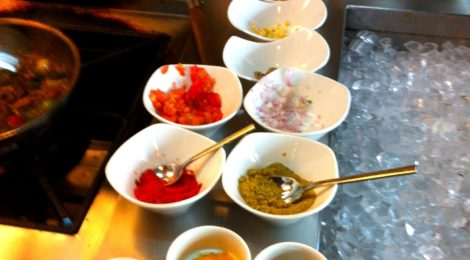 In the chef's kitchen at the Taj Vivanta Hotel in Bangalore -- Broccoli Jalfrezi