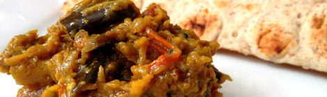 Indian Cooking 401 -- Recipe #2: Smoky mashed eggplant with spices (Baingan Bhurtha)