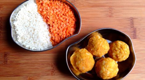 My favorite Indian recipe for toddlers & kids: soft lentil & rice balls