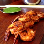 Smoky & Spicy Indian Barbecue: Bobby Flay's Grilled Shrimp Skewers with Cilantro-Mint Chutney