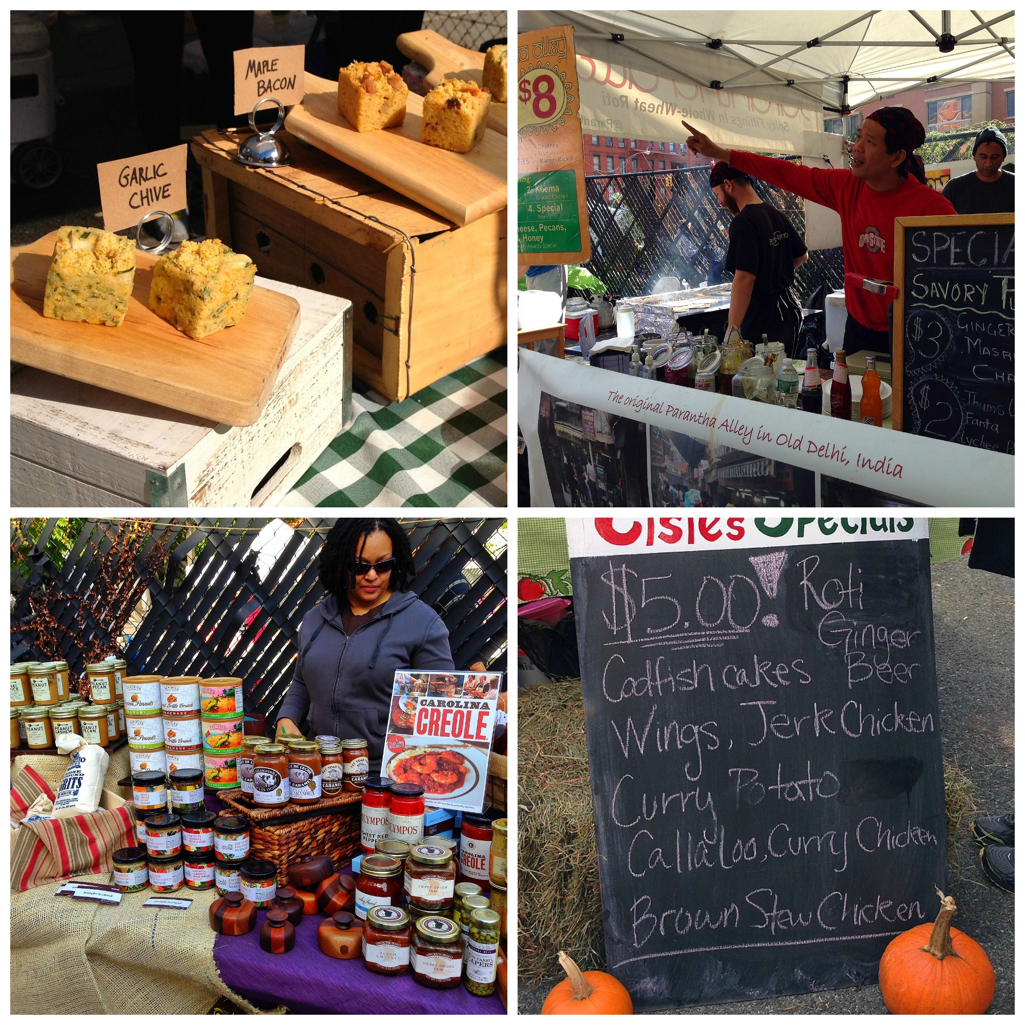Vendors selling handmade food and innovative gourmet products at Harlem Food Festival 2013