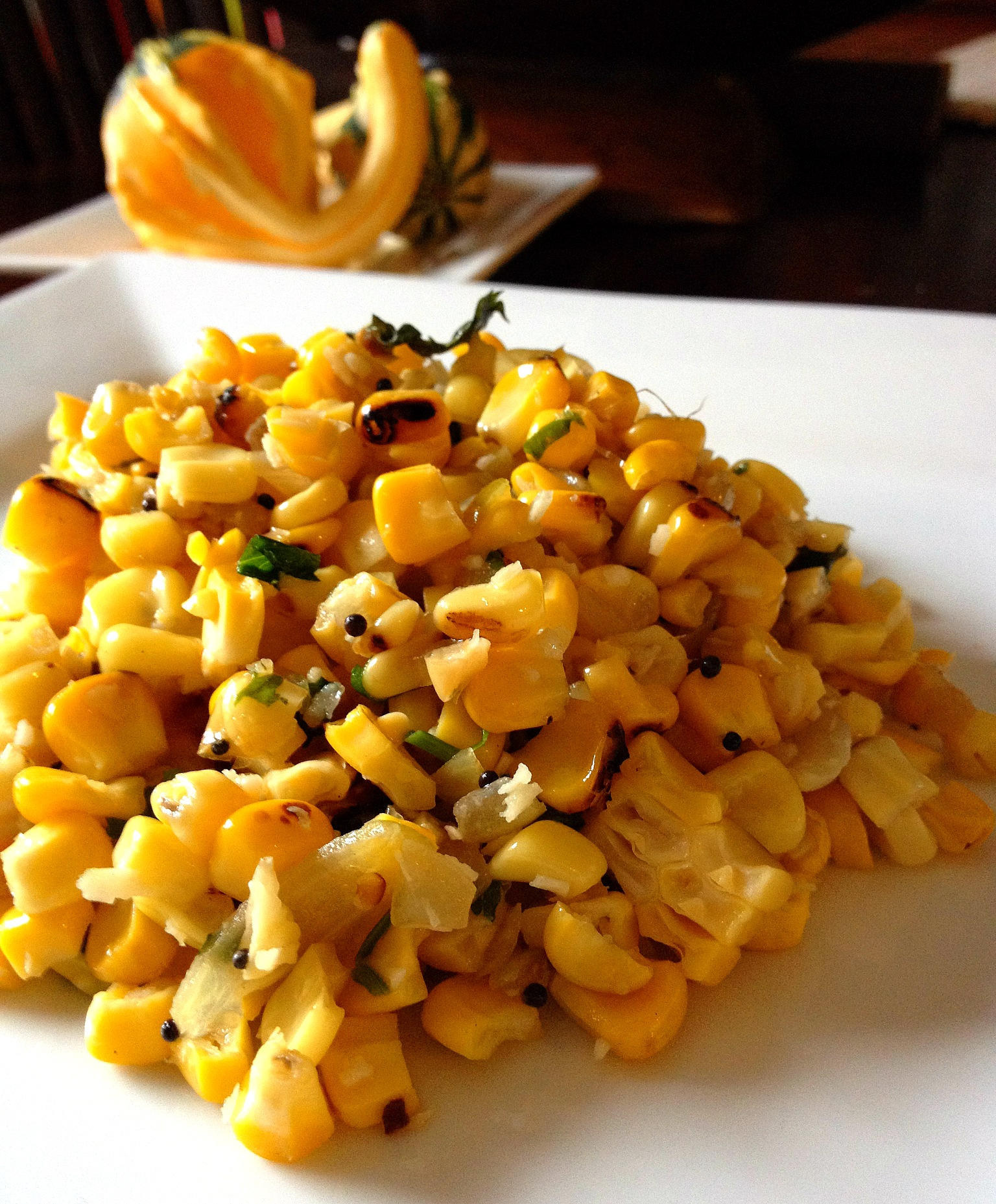 Indian-style Grilled Corn and Coconut Salad | Big Apple Curry