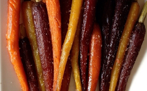 Honey Glazed carrots with red chilli pepper