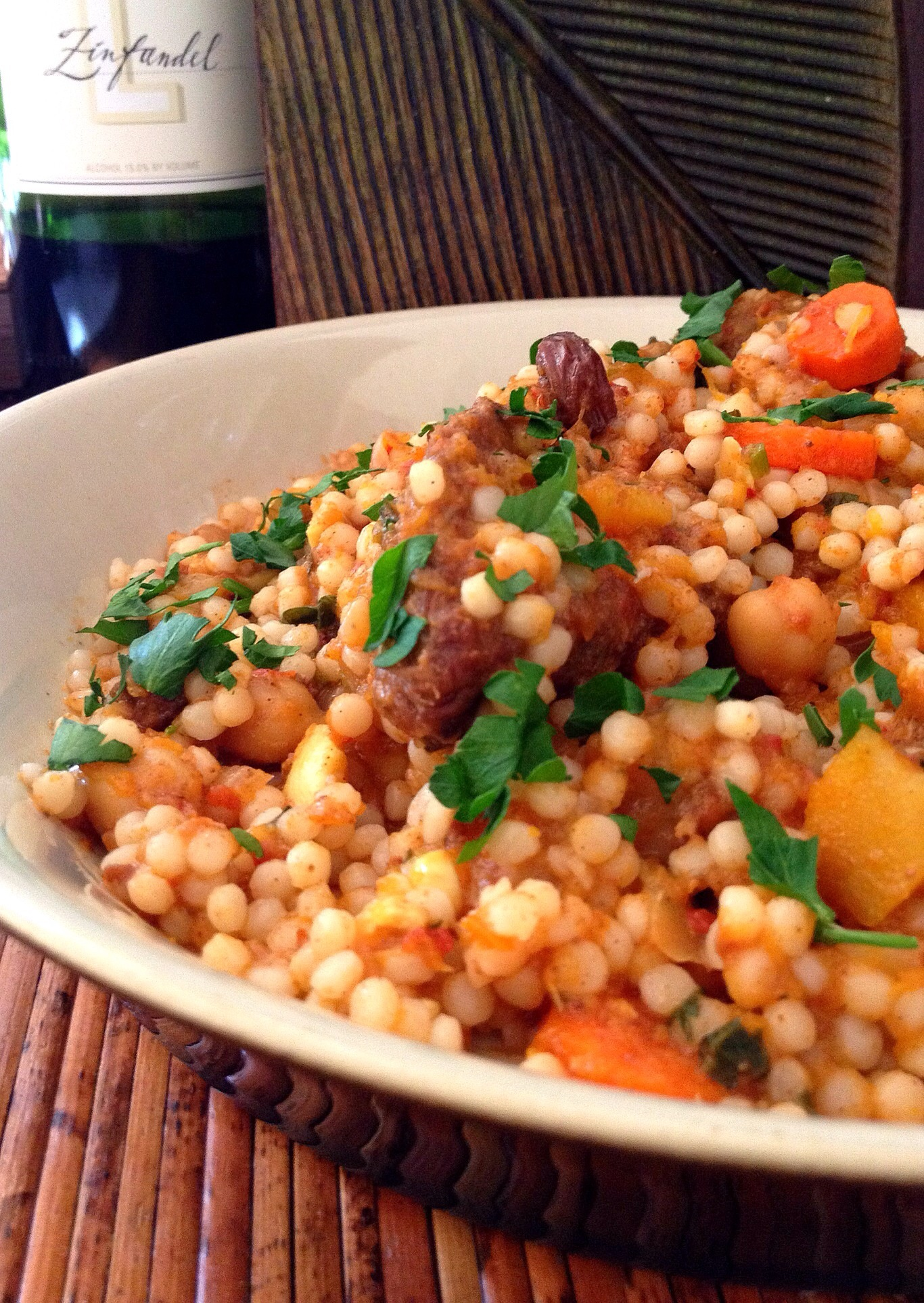 ... Make this Slow Cooker Moroccan Tagine with Chickpeas & Pearl Couscous