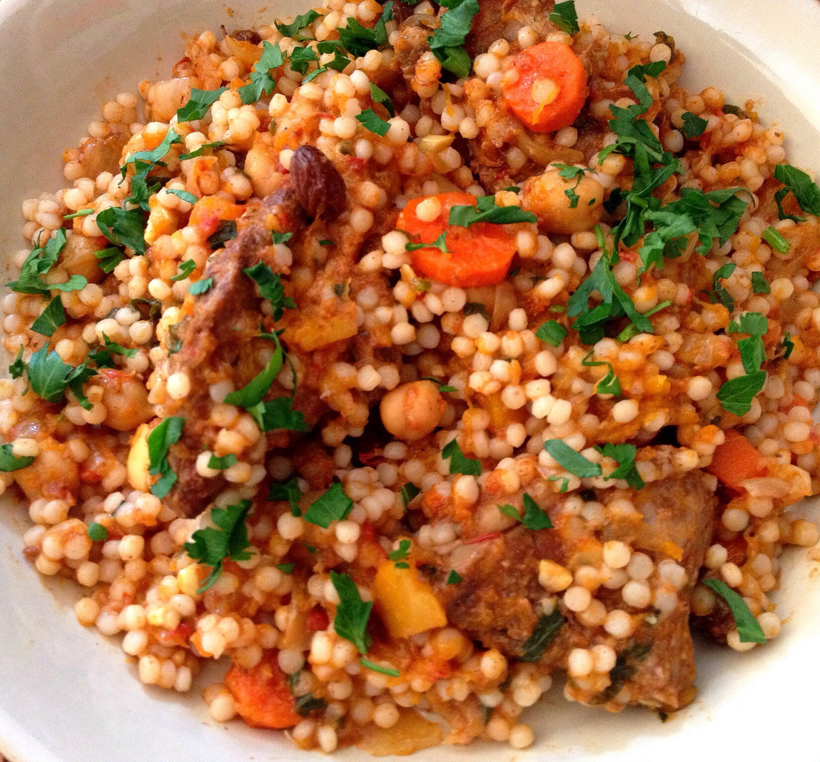 Moroccan Slow Cooker Tagine with Chickpeas and Pearl Couscous (adapted ...
