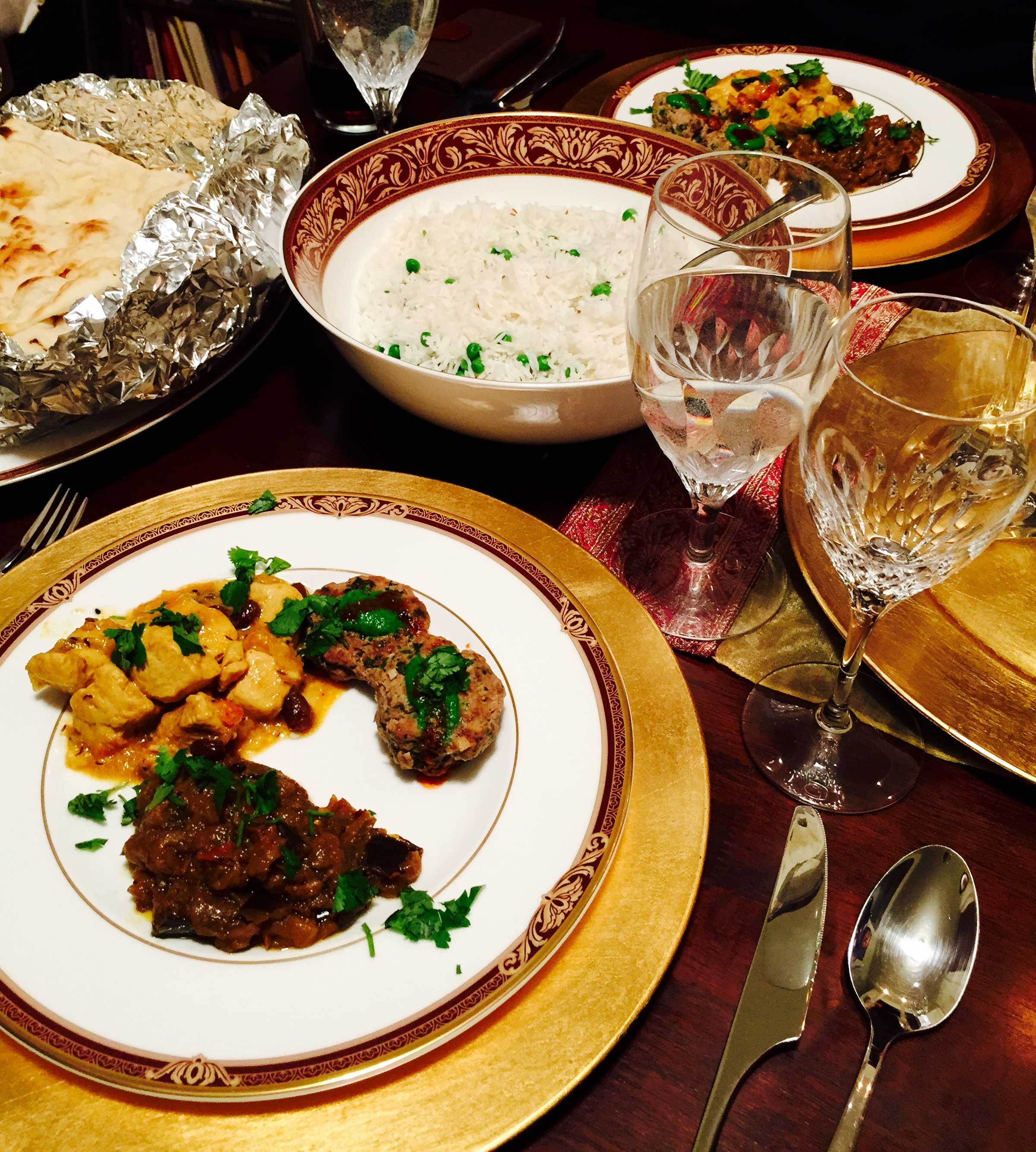 Elegant Indian Dinner Party