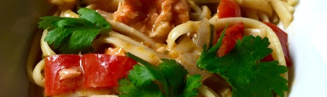 Weeknight Dinnersaver: The Culinary Tribune's One Pot Salmon Coconut Curry Pasta