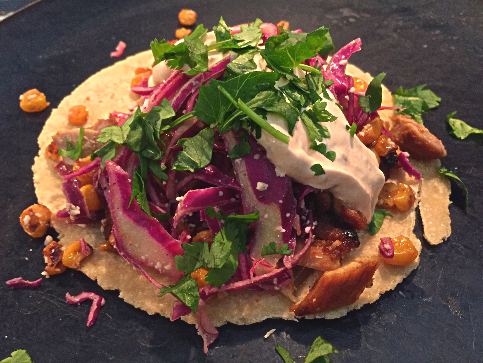Indian Soft Tacos with Spicy Honey-Brushed Curried Chicken Thighs