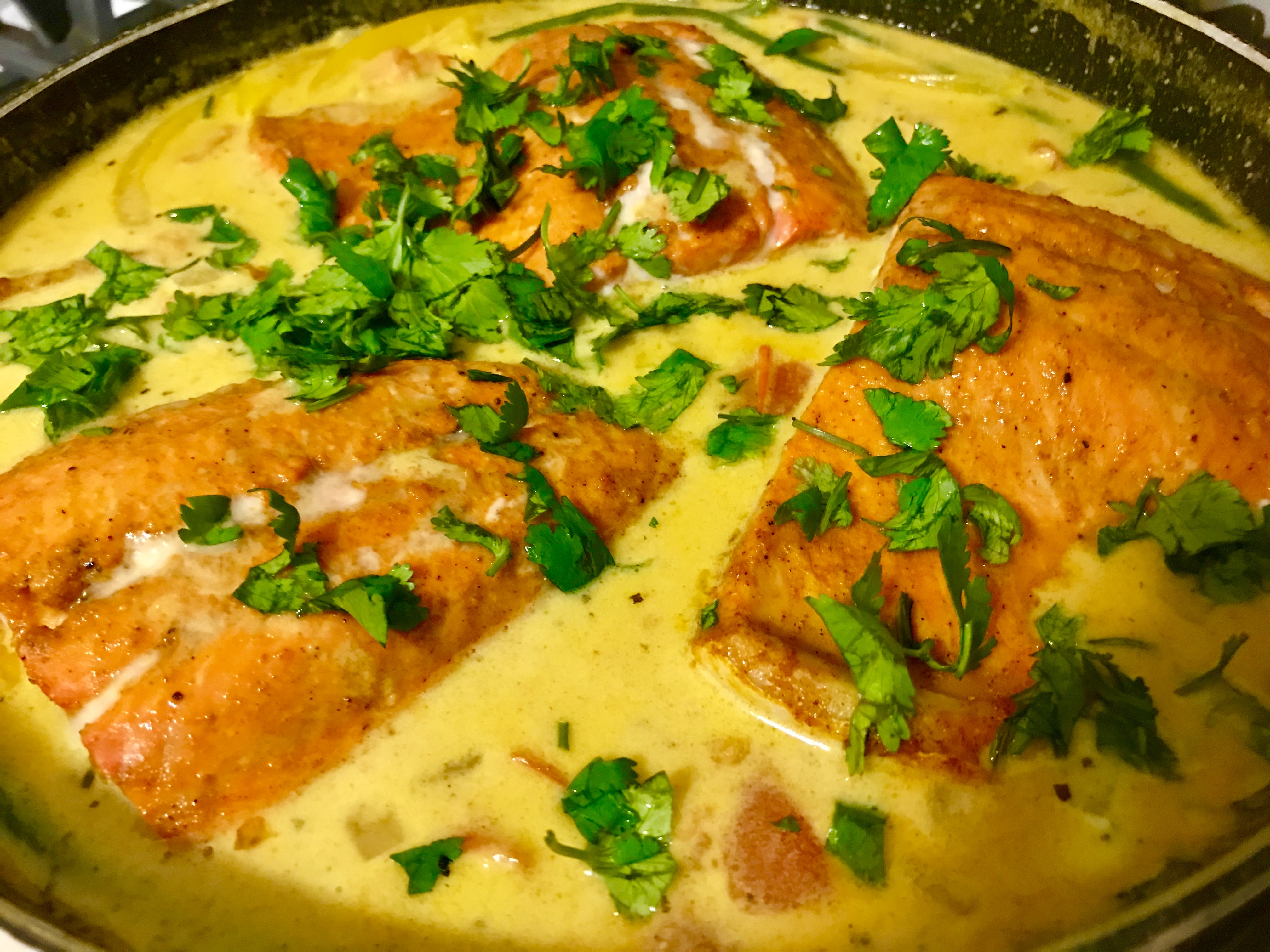 Simple Coconut-Curry Salmon